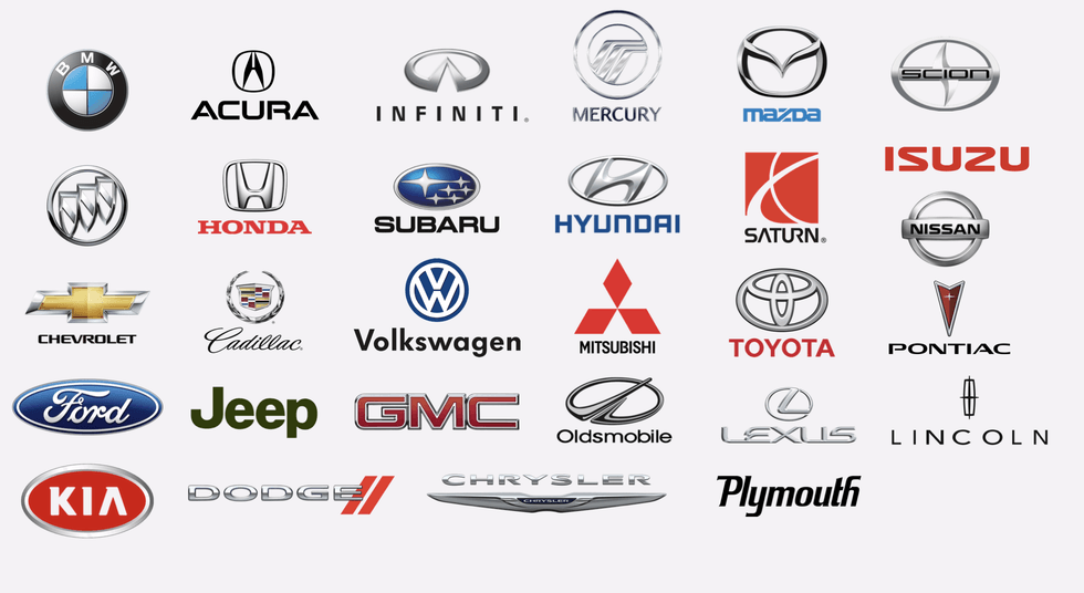 Car brands we service